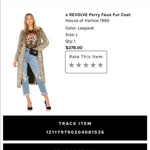 97e68bf973d0 House of Harlow 1960 Jackets & Coats - 🔥HOUSE OF HARLOW 1960 Perry Faux  Leopard
